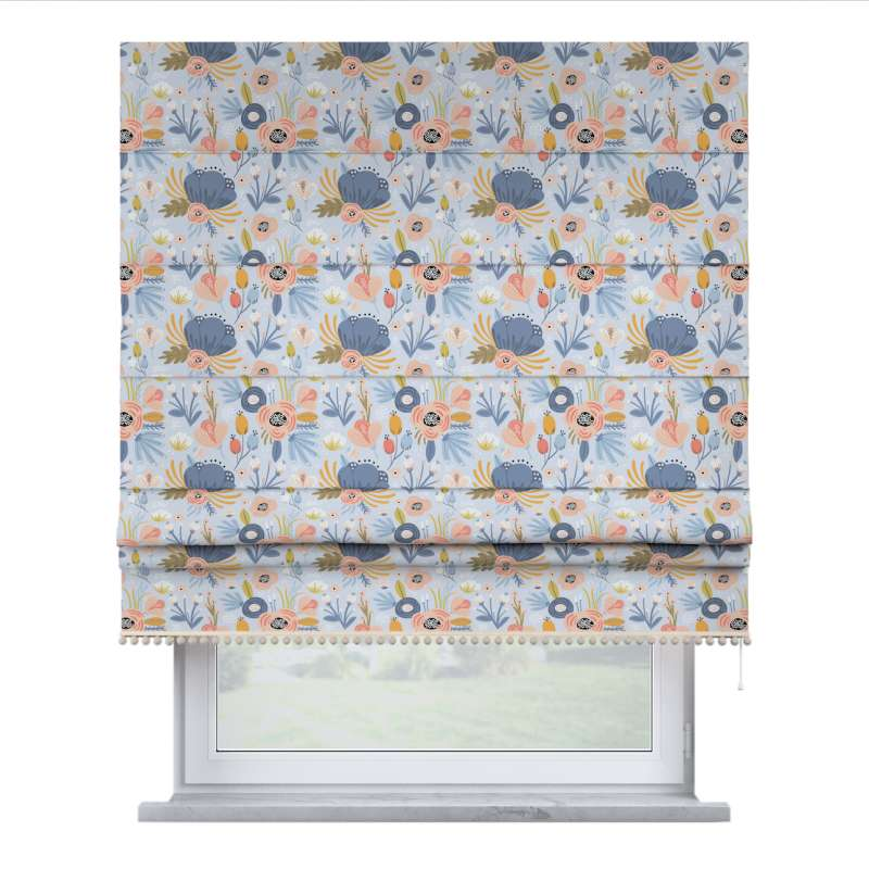 Roman blind with pompoms in collection Magic Collection, fabric: 500-05