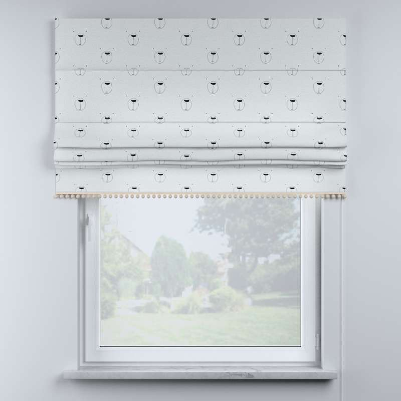 Roman blind with pompoms in collection Magic Collection, fabric: 500-06