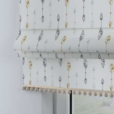 Roman blind with pompoms 500-07  Collection Magic Collection