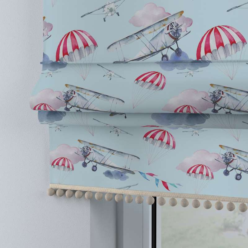 Roman blind with pompoms in collection Magic Collection, fabric: 500-10