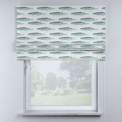 Roman blind with pompoms in collection Magic Collection, fabric: 500-11