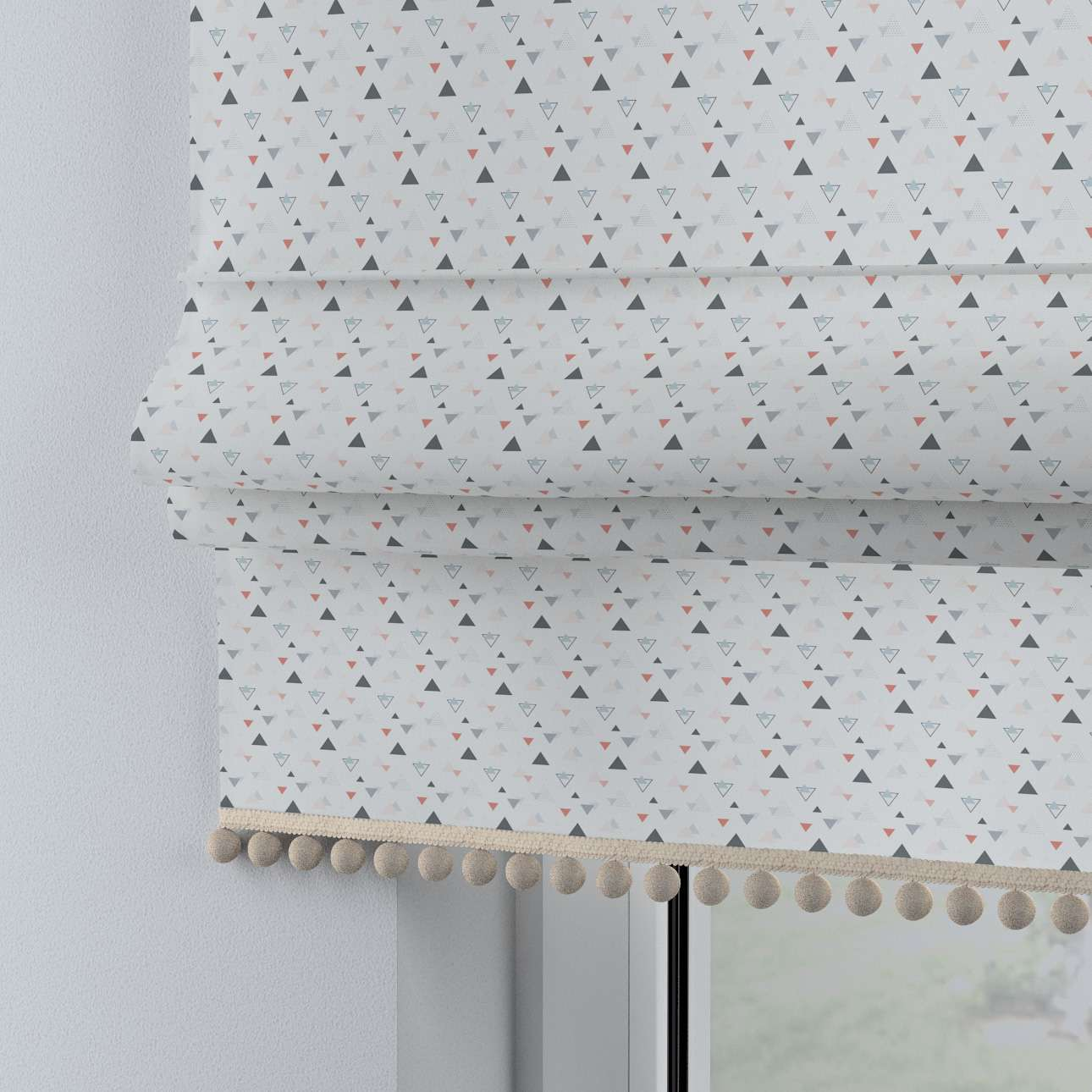 Roman blind with pompoms in collection Magic Collection, fabric: 500-22