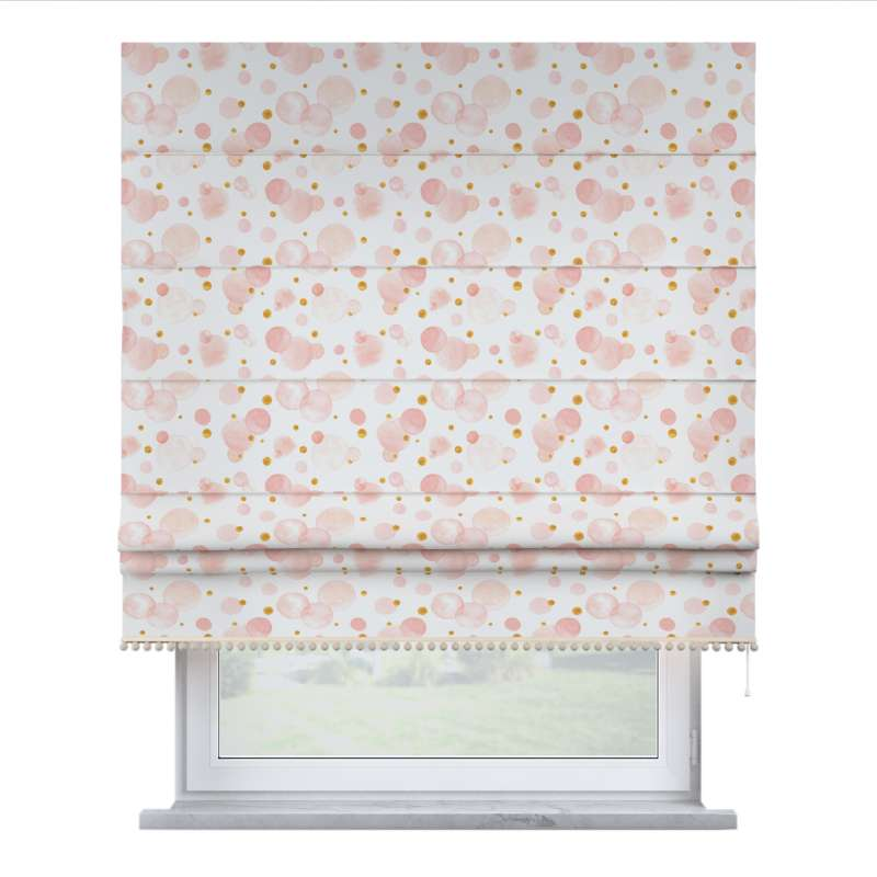 Roman blind with pompoms in collection Magic Collection, fabric: 500-13