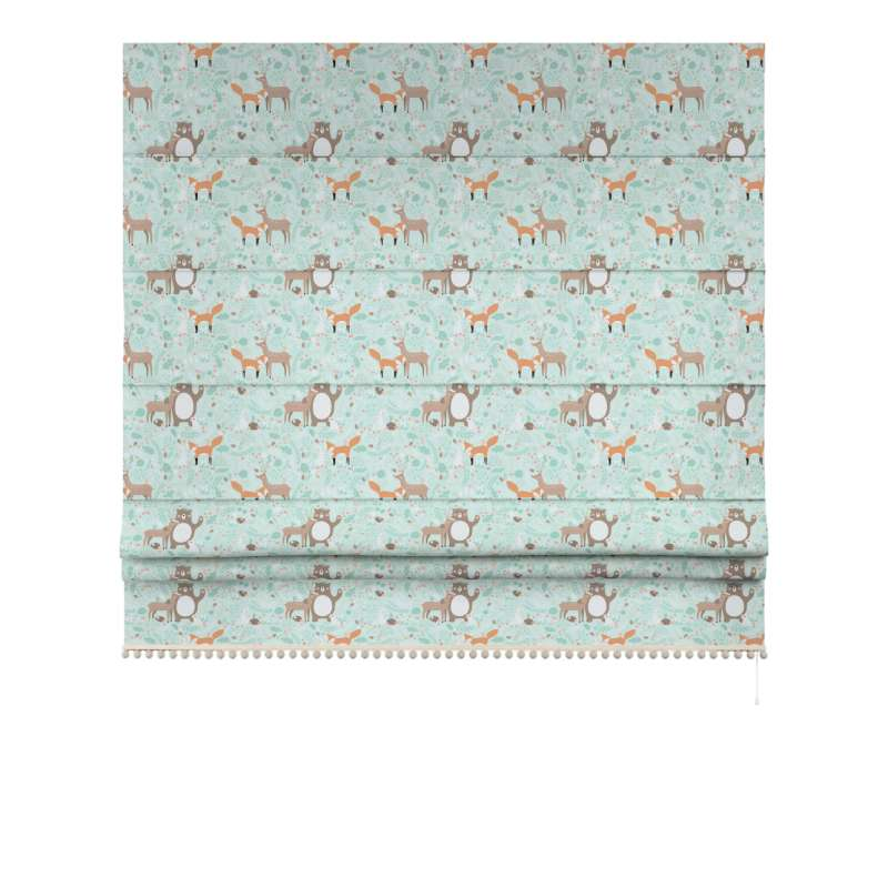 Roman blind with pompoms in collection Magic Collection, fabric: 500-15