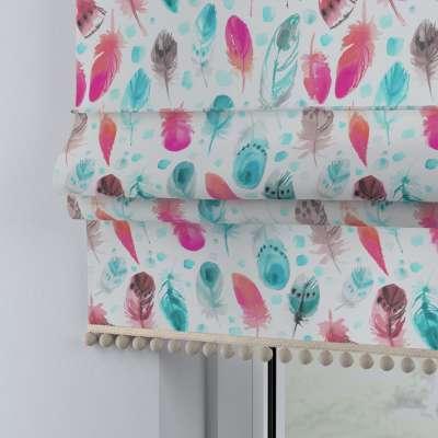 Raffrollo mit Bommeln 500-17 pink- türkis Kollektion Magic Collection