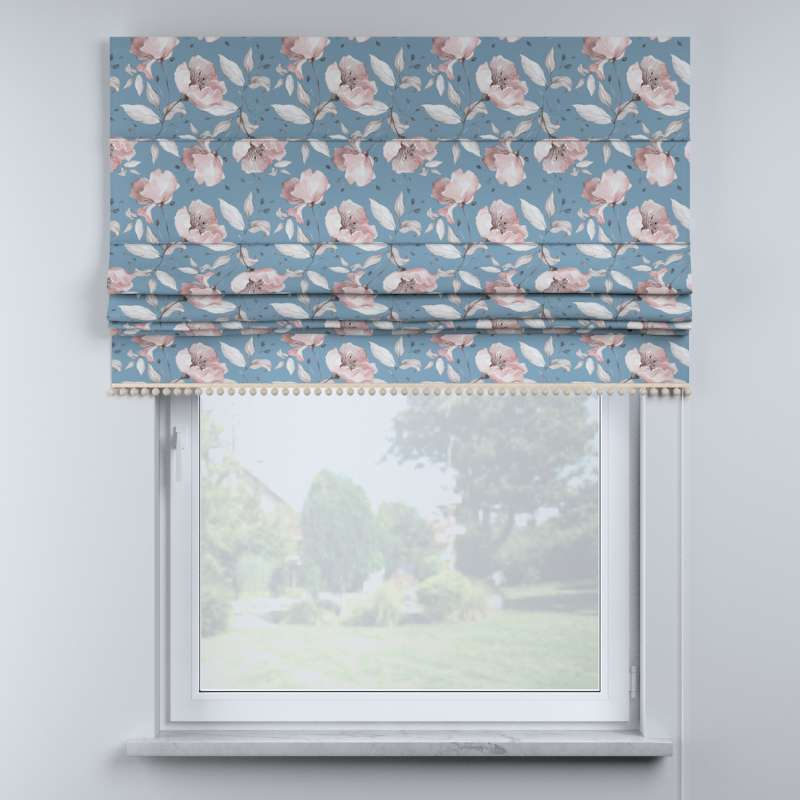 Roman blind with pompoms in collection Magic Collection, fabric: 500-18