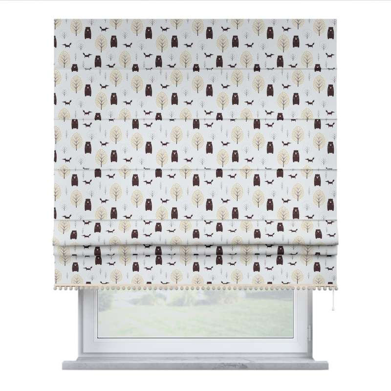 Roman blind with pompoms in collection Magic Collection, fabric: 500-19