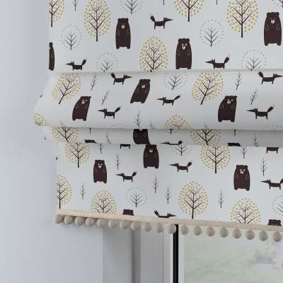 Roman blind with pompoms 500-19  Collection Magic Collection