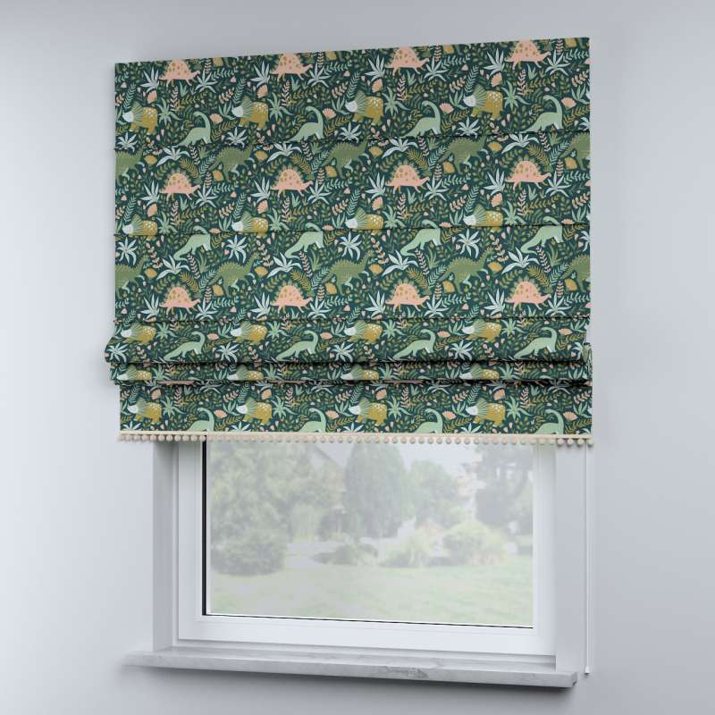 Roman blind with pompoms in collection Magic Collection, fabric: 500-20