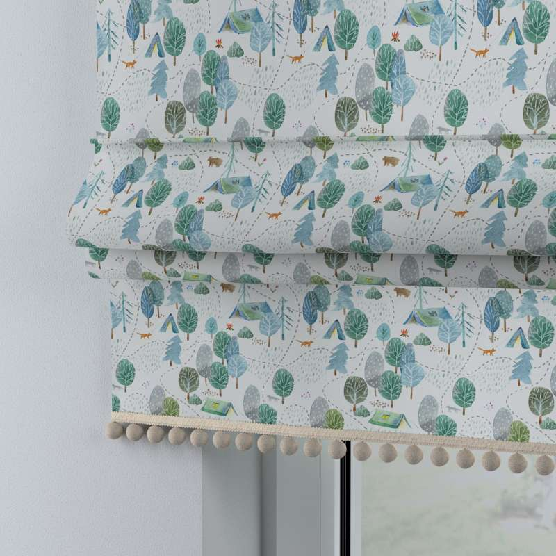 Roman blind with pompoms in collection Magic Collection, fabric: 500-21