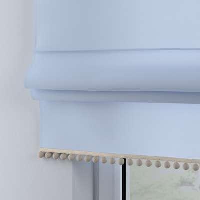 Roleta z pomponikami 133-35 pastelowy niebieski Kolekcja Happiness