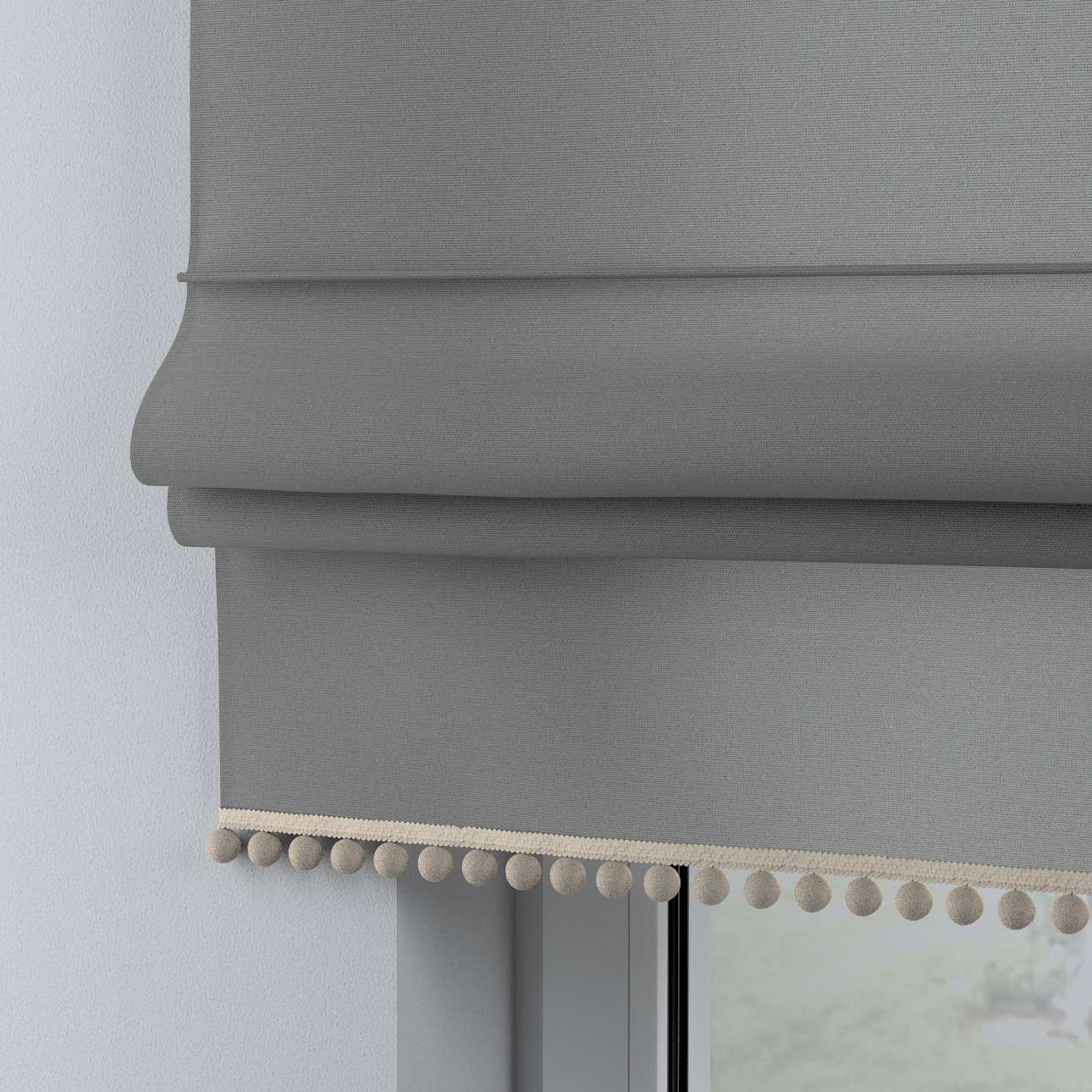 Roman blind with pompoms in collection Happiness, fabric: 133-24