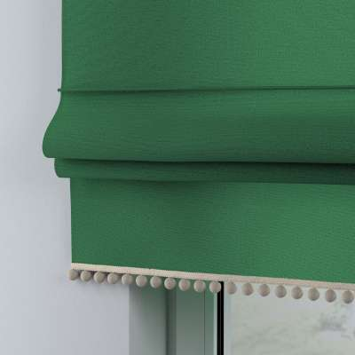 Roman blind with pompoms 133-18 dark green Collection Happiness