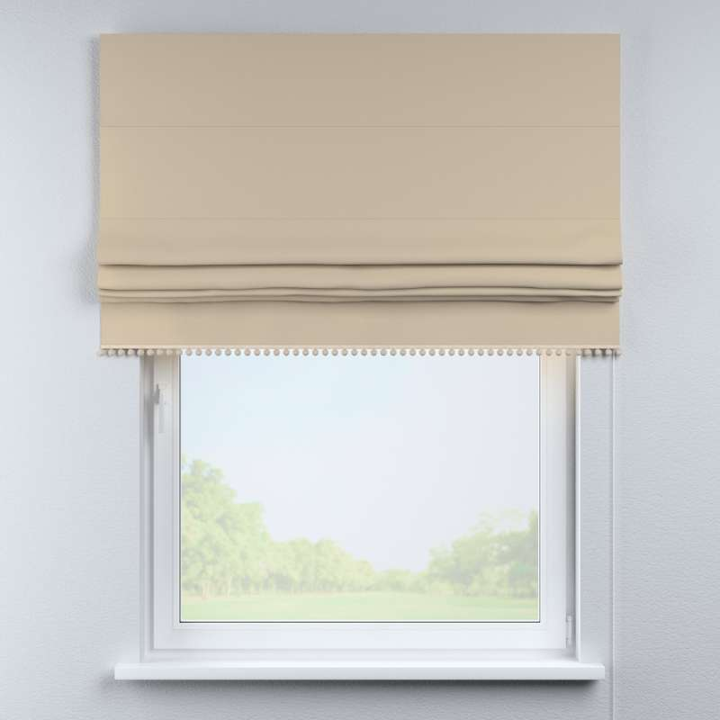 Roman blind with pompoms in collection Cotton Story, fabric: 702-01
