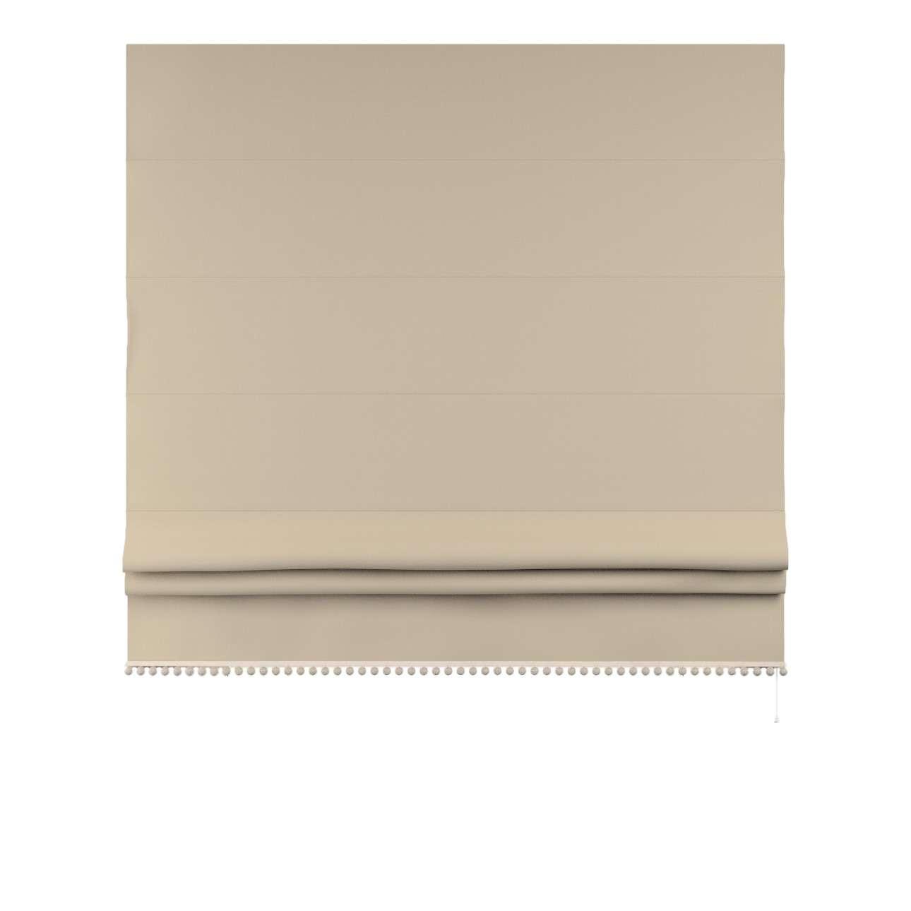 Raffrollo mit Bommeln von der Kollektion Cotton Story, Stoff: 702-01