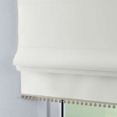 Roman blind with pompoms 702-34 pure white Collection Cotton Story