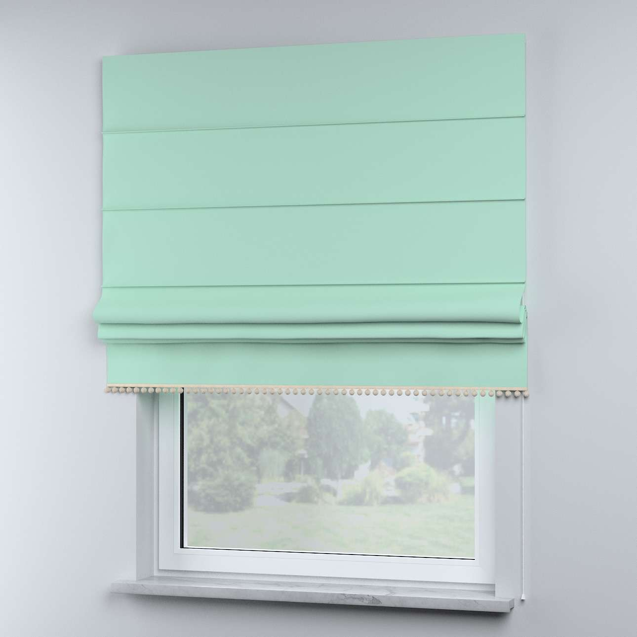 Roman blind with pompoms in collection Happiness, fabric: 133-37