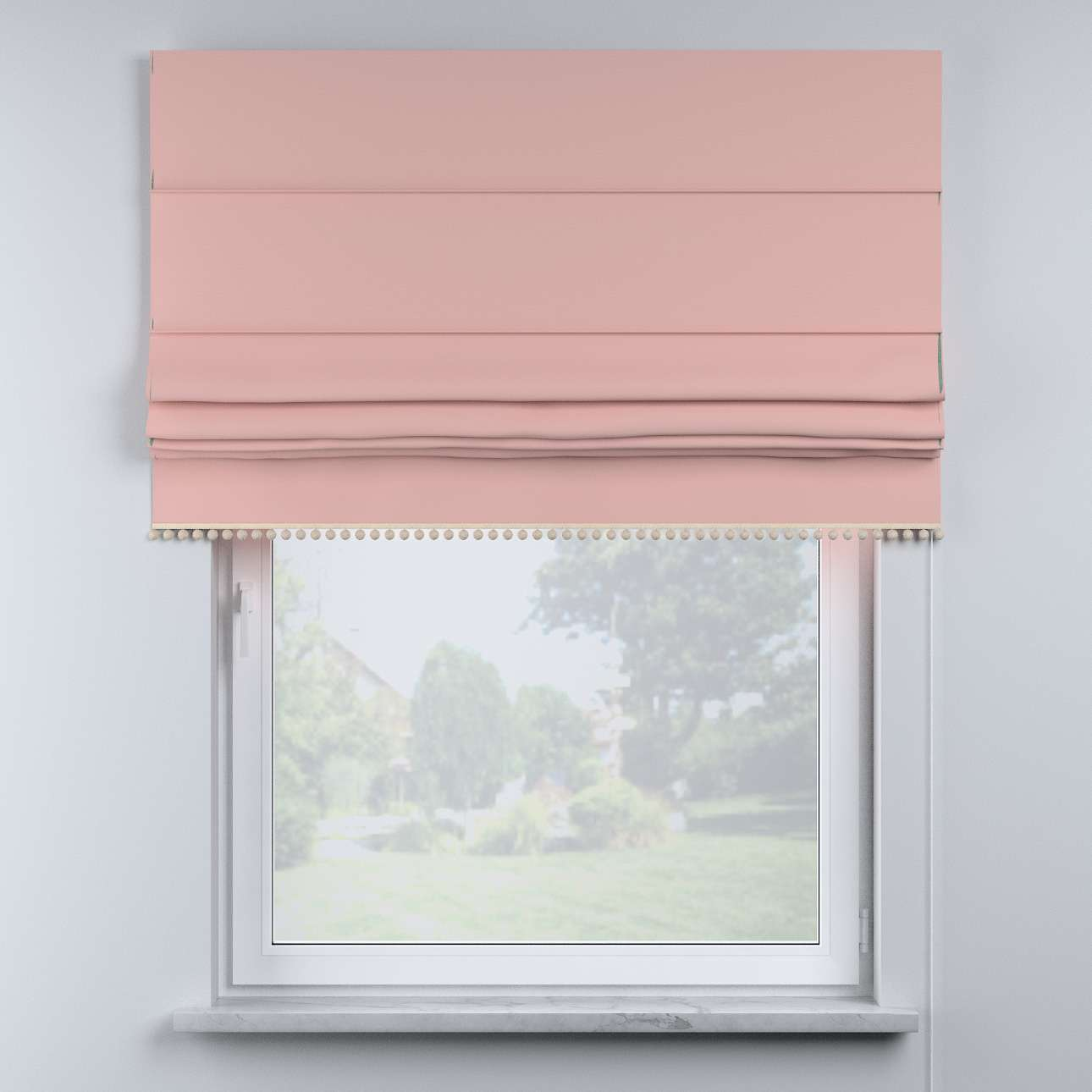 Roman blind with pompoms in collection Happiness, fabric: 133-39