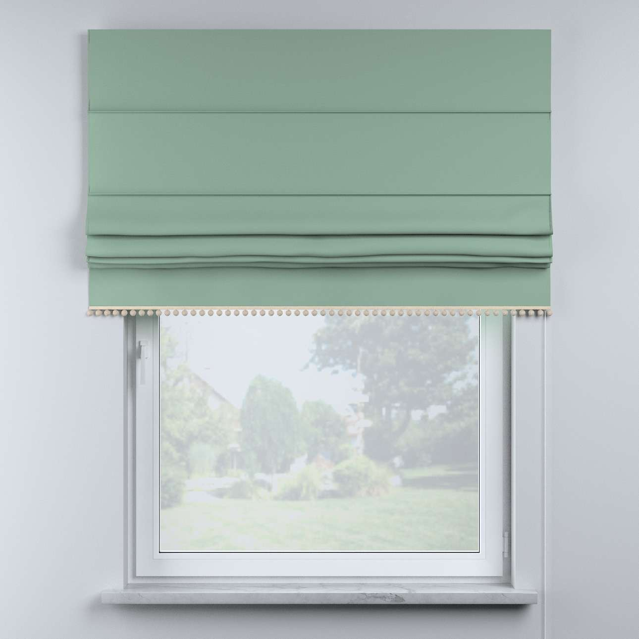 Roman blind with pompoms in collection Happiness, fabric: 133-61