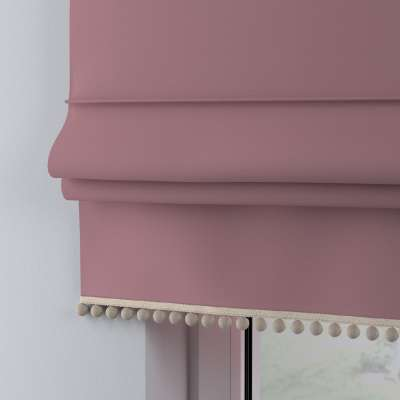 Roman blind with pompoms 133-62 old rose Collection Happiness
