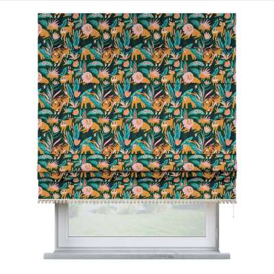 Roman blind with pompoms 500-42 zielony Collection Magic Collection