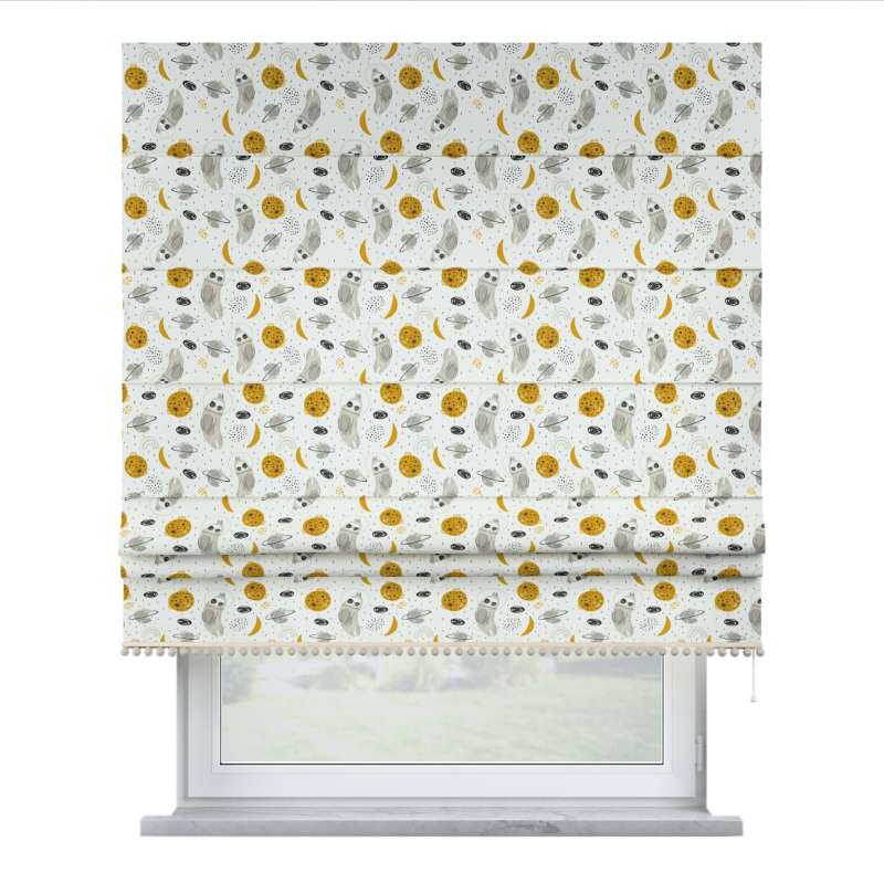 Roman blind with pompoms in collection Magic Collection, fabric: 500-44