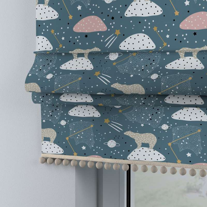 Roman blind with pompoms in collection Magic Collection, fabric: 500-45