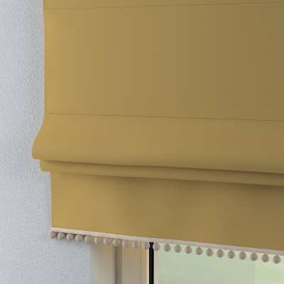 Římská roleta s bambulkami 702-41 Matně žlutá Kolekce Cotton Story