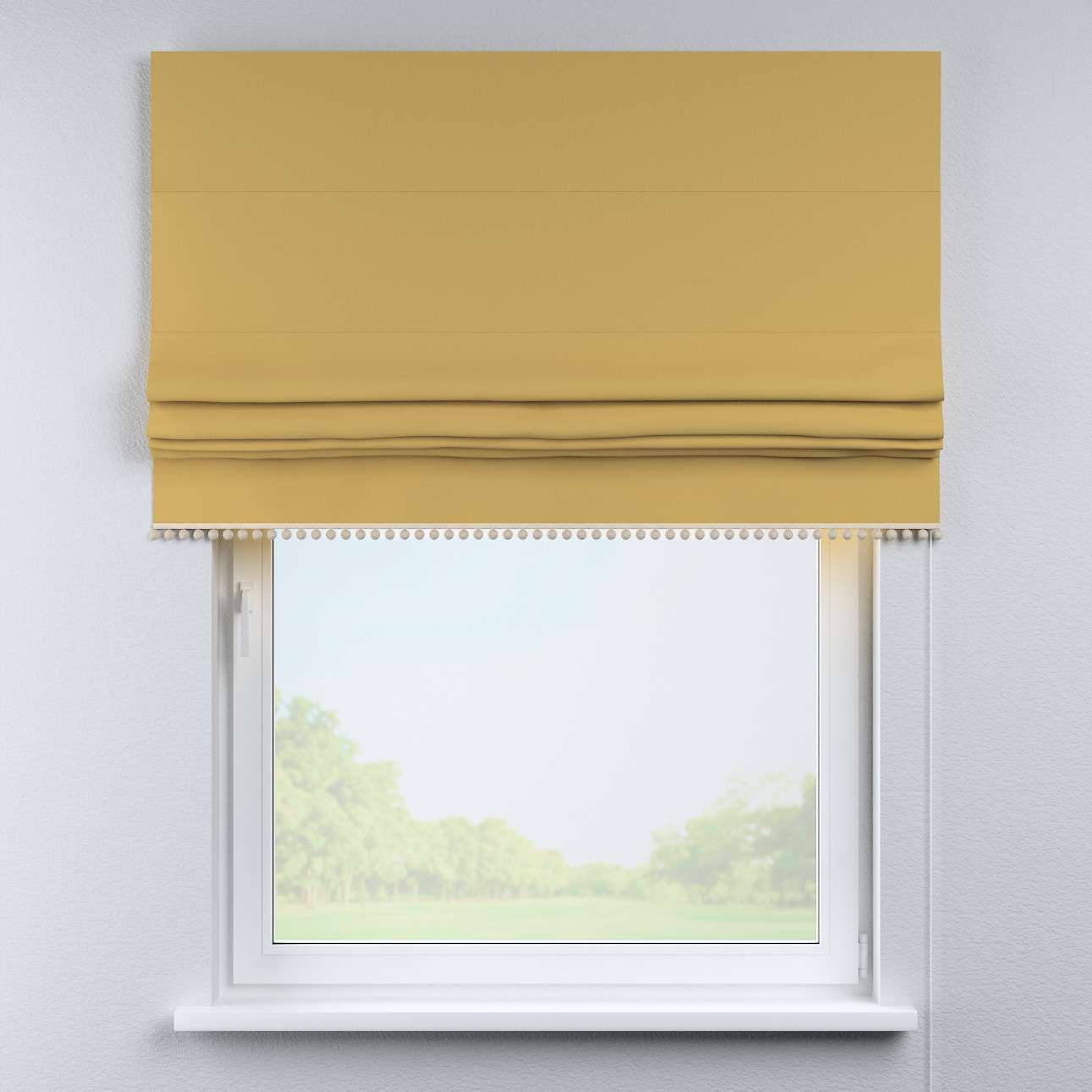Roman blind with pompoms in collection Cotton Story, fabric: 702-41