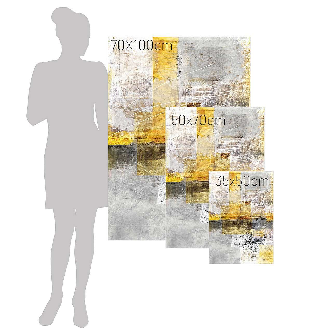 Leinwandbild Yellow Abstarct