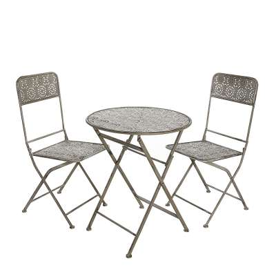 Gartenmöbel-Set Zoe Tisch + 2 Stühle Gartenmöbel - Dekoria.de