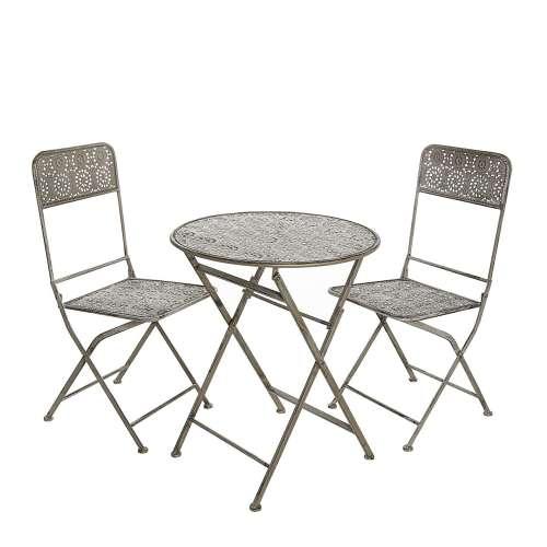 Zestaw ogrodowy Zoe stolik + 2 krzesła
