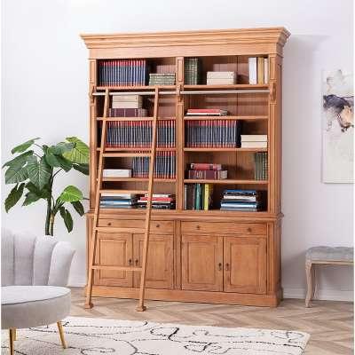Boekenkast Library 186x42x238cm Engelse meubels - Dekoria.nl