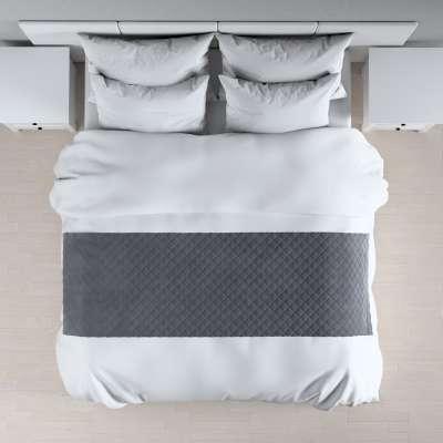 Hotelový přehoz na postel- běhoun Velvet 704-12 grafitová šeď Kolekce Velvet