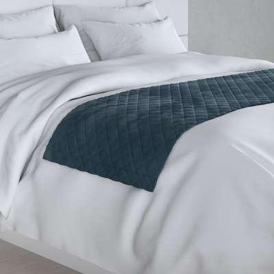 Hotelový přehoz na postel- běhoun Velvet 704-16 staroněmecká modrá Kolekce Velvet