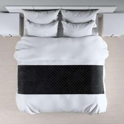 Hotelový přehoz na postel- běhoun Velvet 704-17 černá Kolekce Velvet