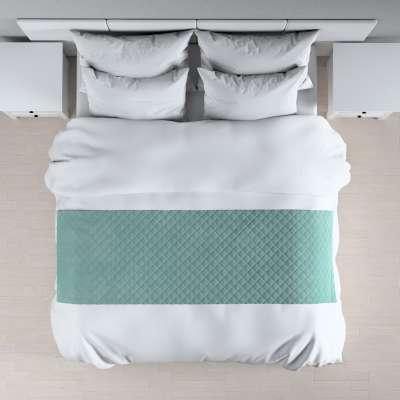 Hotelový přehoz na postel- běhoun Velvet 704-18 šedavá mátová Kolekce Velvet