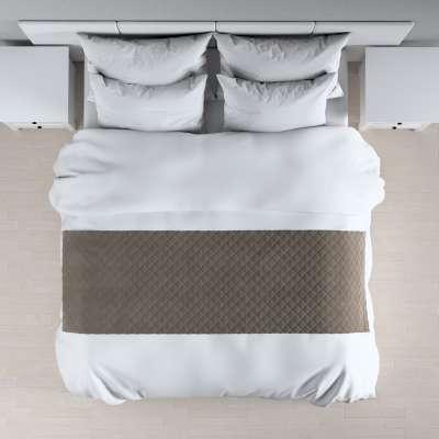 Hotelový přehoz na postel- běhoun Velvet 704-19 šedohnědá se stříbřitým nádechem Kolekce Velvet