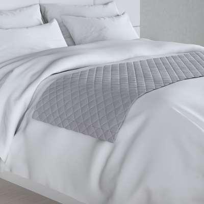 Hotelový přehoz na postel- běhoun Velvet 704-24 stříbro-šedá Kolekce Velvet
