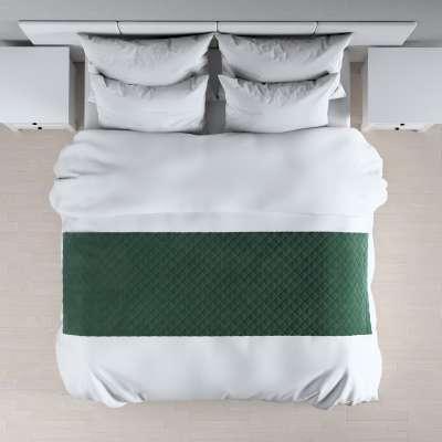 Hotelový přehoz na postel- běhoun Velvet 704-25 tmavá lesní zeleň Kolekce Velvet