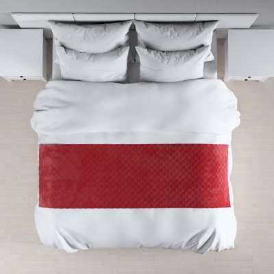 Hotelový přehoz na postel- běhoun Velvet 704-15 sytá červená Kolekce Christmas