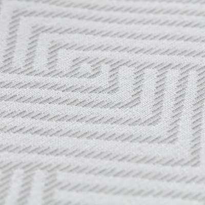 Plaid 220x260cm 143-43 grau-weiß Kollektion Sunny