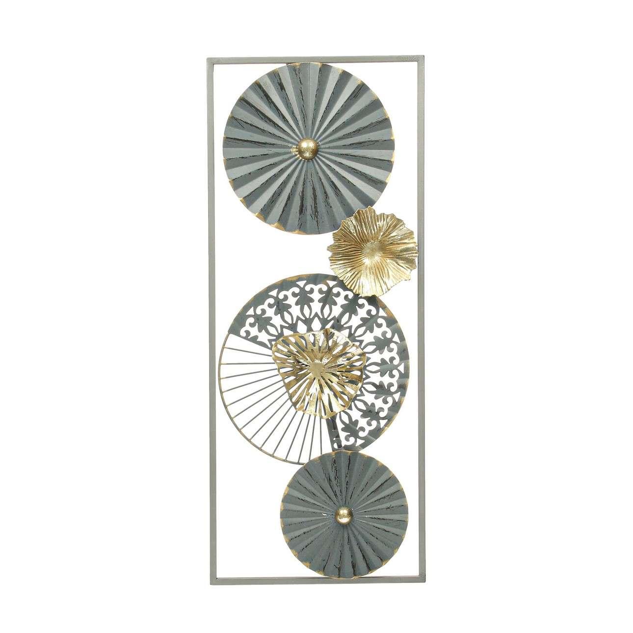 Nástěnná dekorace Amaya graphite 60cm