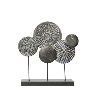 Dekoracja Saturn Rings 33cm silver Dla Niego - Dekoria.pl