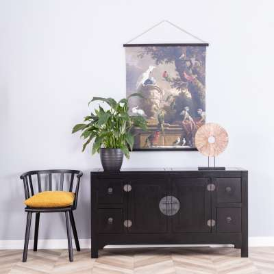 Komoda Modern 137x45x76cm black Meble - Dekoria.pl