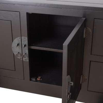 Kommode Modern black 137x45x76cm
