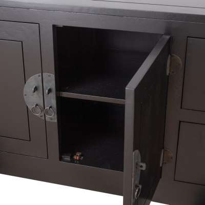 Komoda Modern 137x45x76cm black