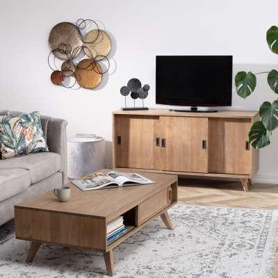 TV-meubel Oblique 141x47x76cm Meubels - Dekoria.nl
