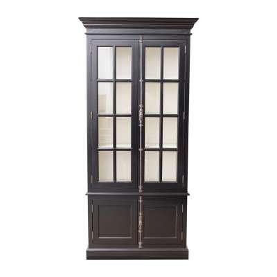 Witryna Josephine 4-drzwiowa 100x45x212cm black Witryny, regały, kredensy - Dekoria.pl