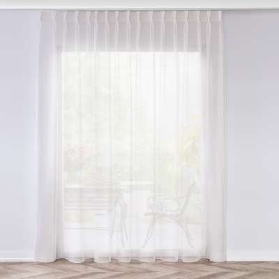 Voile curtains with pinch pleat 901-01 ivory/lead hem Collection Voile